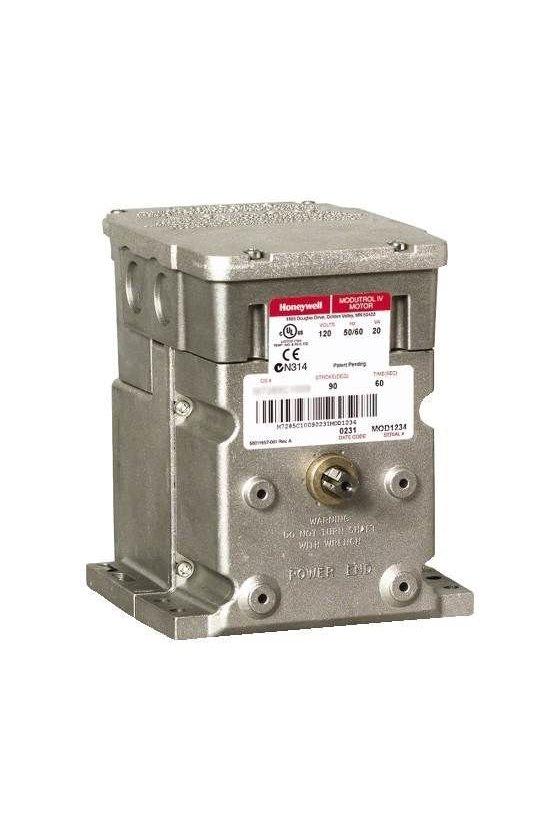 M4185B1058 motor modultrol 60 lb-in,retorno por resorte, dos posiciones, voltaje de línea, 1 interruptor auxiliar, 24/120 / 230V