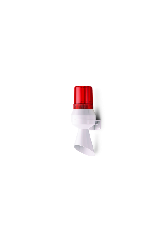 710112005 KLL Mini bocina - Ind. con cono Ind.LED Fija/Intmitente (RO) base gris 24 V DC Continuo 92dB