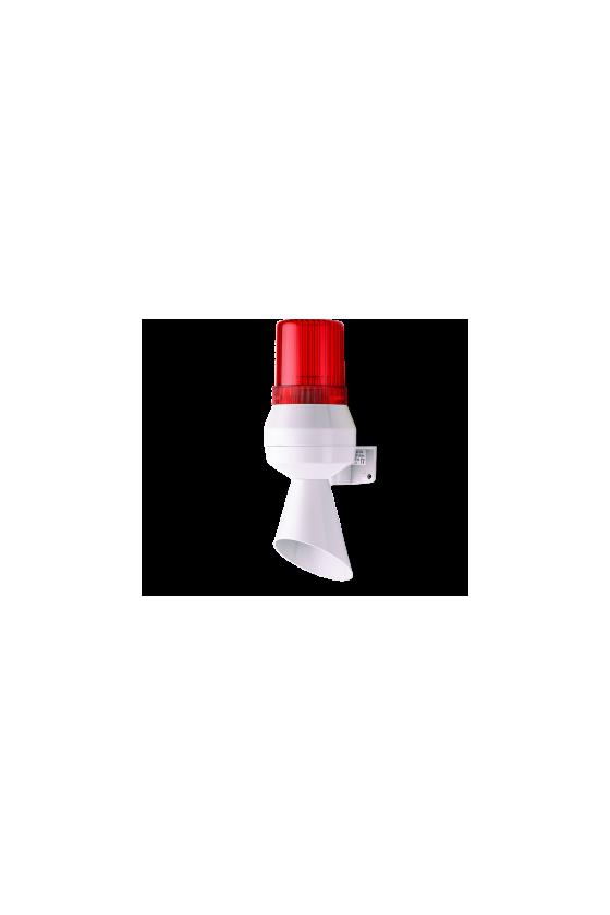 710112005  kll mini bocina - indicador con cono indicador led fija/intermitente (ro) base gris 24 v dc