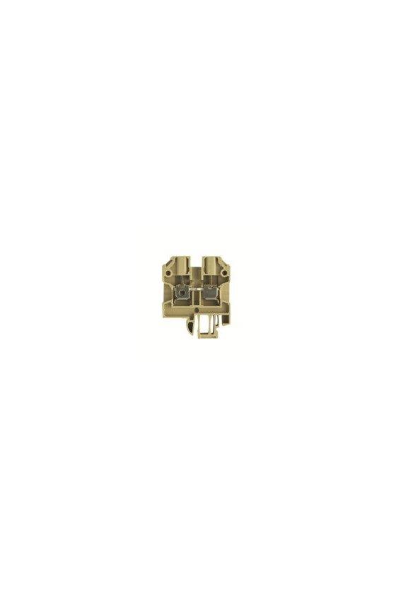 128360000  Borne de paso, Sección nominal: 4 mm², Conexión brida-tornillo SAK 4