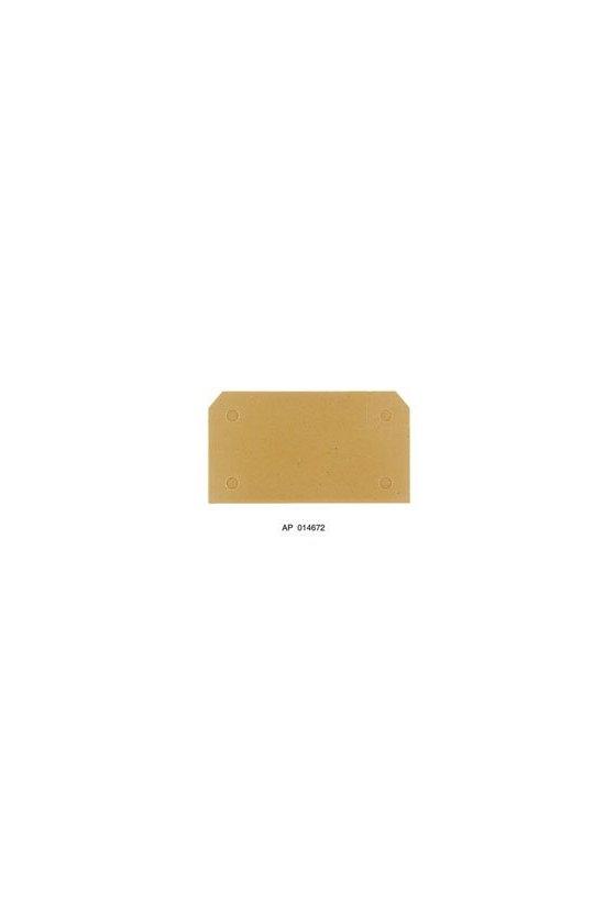 146760000 Serie SAK, Tapa final, 3 mm, Beige oscuro, amarillo, Montaje directo AP SAKB/C/T BE