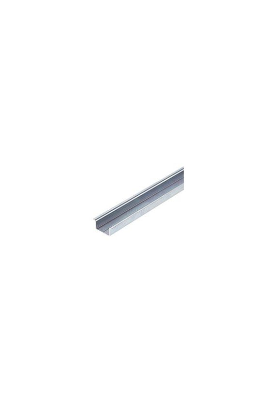 0236400000CM sin coliso, Acero, chapado en zinc galvanizado y pasivado, CARRIL,TS 35X15 2M STEEL SOLID