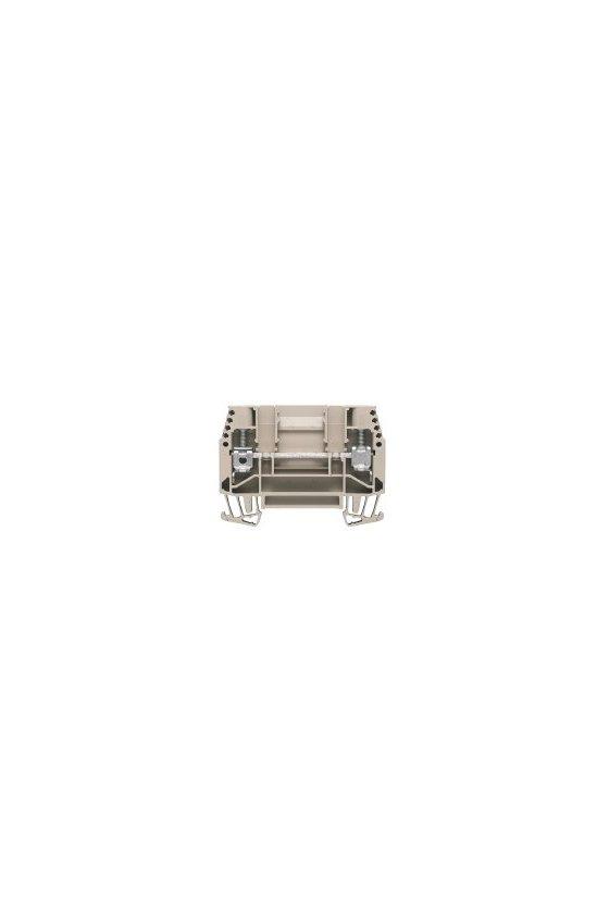 1017100000 Borne de paso, Conexión brida-tornillo, 6 mm², 630 V, 41 A,  WTD 6/1