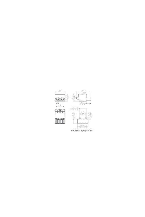 1017730000 Conector para placa, enchufe hembra, 5.00 mm, Número de polos: 7, BLF 5.00/07/180 SN BK BX