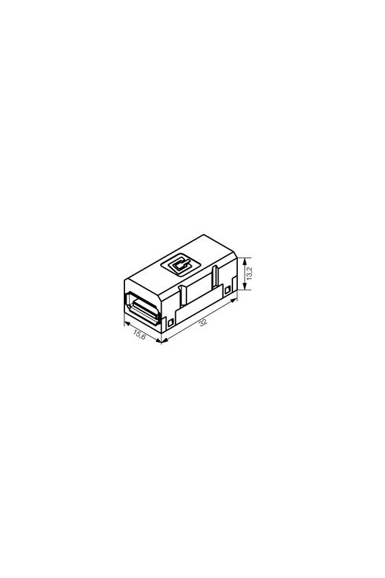1019570000 Conector USB, Conector para base, tipo A, IE-BI-USB-A