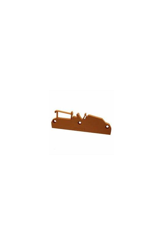 1020640000 Carcasas para componentes electrónicos naranja, Tapa final, Anchura: 6.4, AP RF 122 LI OR