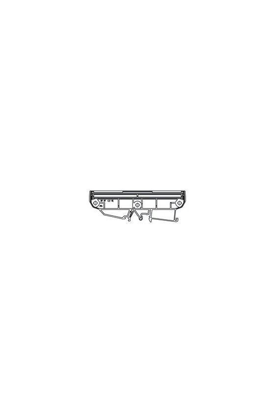 1020650000 Carcasas para componentes electrónicos naranja, Tapa final, Anchura: 6.4, AP RF 122 RE OR