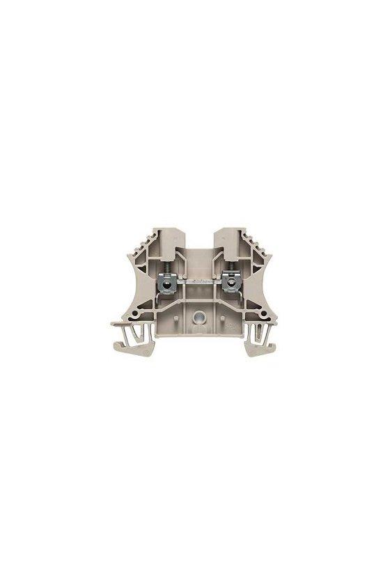 1020800000 Borne de paso, Conexión brida-tornillo, 2.5 mm², 500 V, 24 A, Beige oscuro, WDU 2.5/10 BEZ/NE