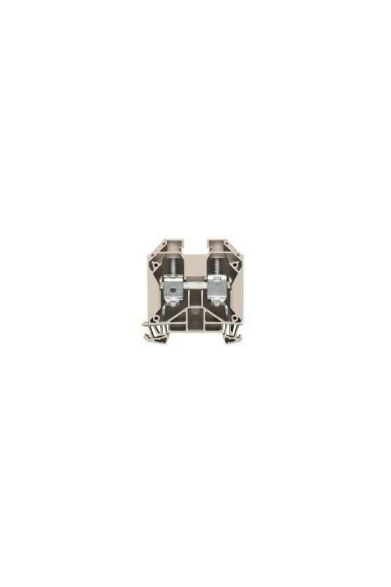 1028900000 Borne de paso, Conexión brida-tornillo, 16 mm², 1000 V, 76 A, Beige oscuro, WDU 16/ZA