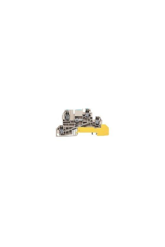 1029800000 Serie W, Borne de distribución con WQV, Sección nominal: 2.5 mm², Conexión brida-tornillo, WDL 2.5/NT/L/PE