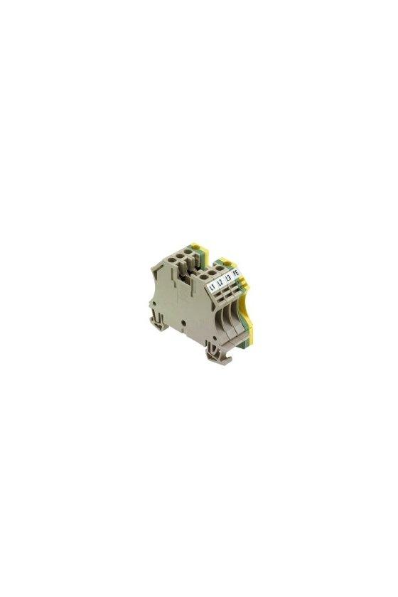 1034000000 Borne de paso, Borne de conexión para motor, Conexión brida-tornillo, 4 mm², 800 V, 32 A, Beige oscuro, WMA 4/4