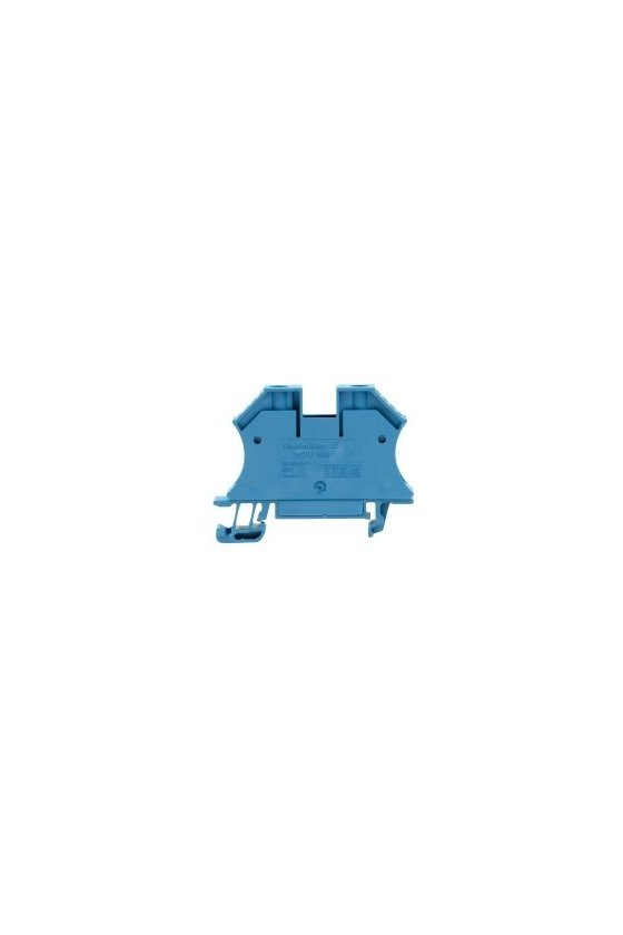 1036180000 Borne de paso, Conexión brida-tornillo, 16 mm², 690 V, 76 A, azul, WDU 16N BL