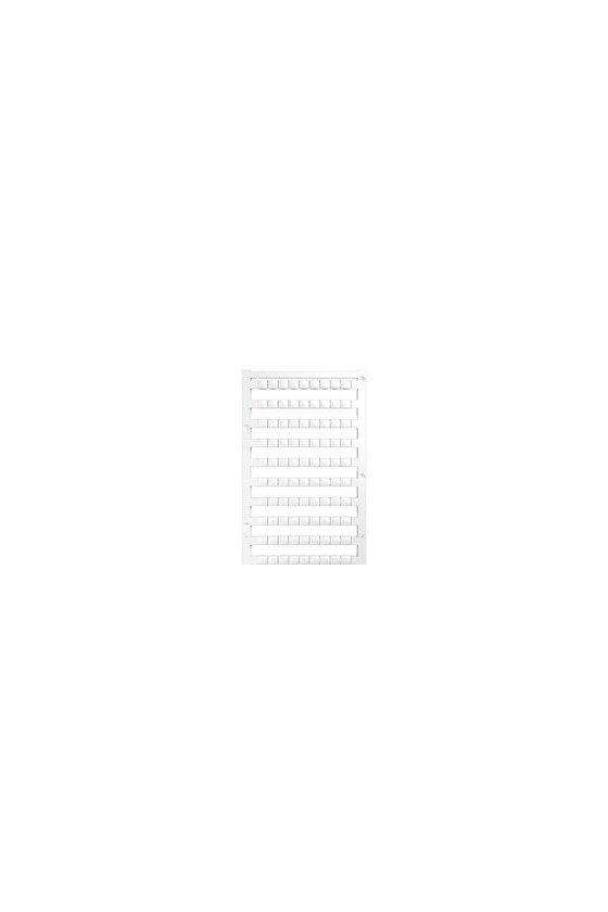 1046340000 Dekafix, Terminal marker, 5 x 6.5 mm, Paso en mm: 6.50 Weidmueller, blanco, DEK 5/6.5 PLUS MC NE WS