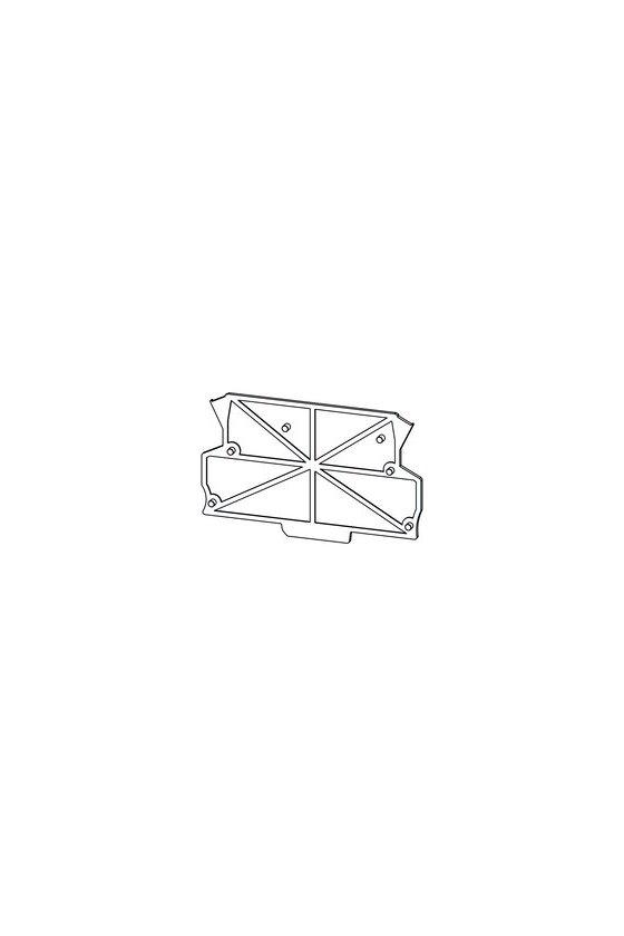 1046410000 Tapa final, OMNIMATE Housing - TERMINALBOX negro, Tapa final, Anchura: 1.5 mm, AP MCZ1.5 SW