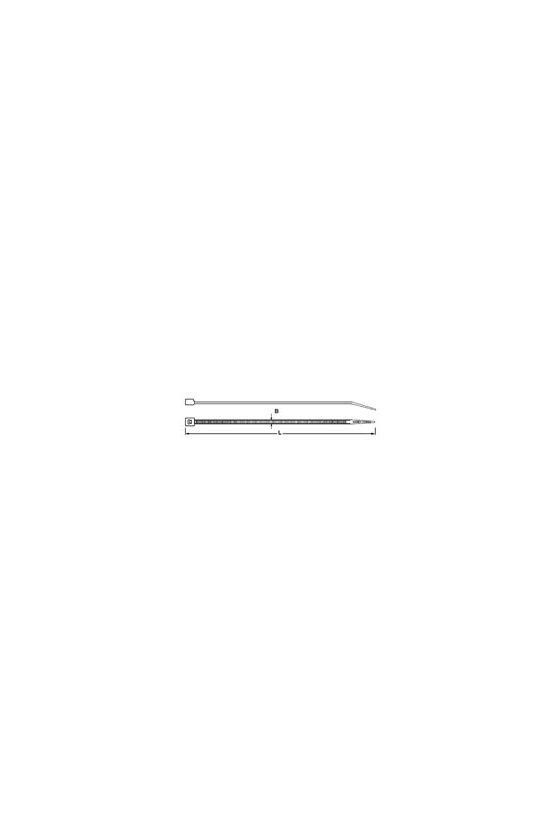 1059220000 Abrazaderas, Alto x ancho: 250 x 7.5 mm, Poliamida 66, 220 N, CB-R 250/7.5 NATUR