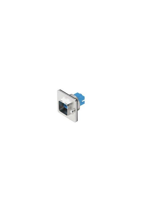 1062600000 Brida para fibra óptica, IP67, acoplamiento SCRJ Duplex, Monomodo, IE-BSC-V14M-SCRJ-SM-C