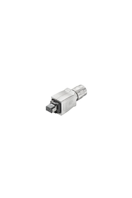 1072910000 Conector macho híbrido, Cat.5 (ISO/IEC 11801), IE-PS-V14M-HYB-10P