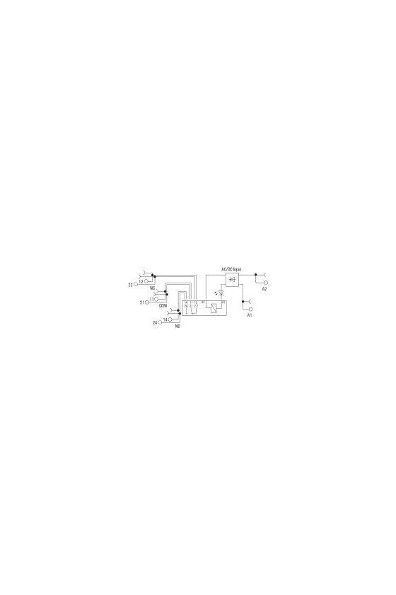 1123670000 TERMSERIES, Módulo de relé, Intensidad permanente: 8 A, Conexión brida-tornillo, TRZ 230VUC 2CO