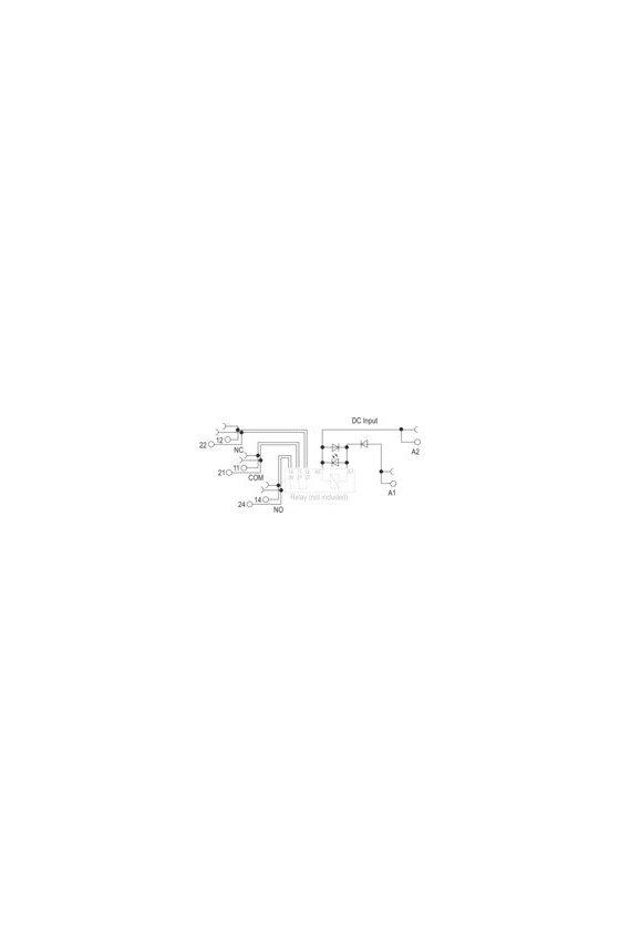 1123980000 TERMSERIES, Base portarrelés, Número de contactos: 2 Contacto conmutado, TRS 24VDC 2CO EMPTY