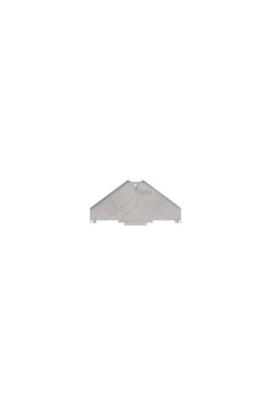 1173670000 Serie P, Placa separadora, gris, 2 mm, sin rotular, TW PRV8