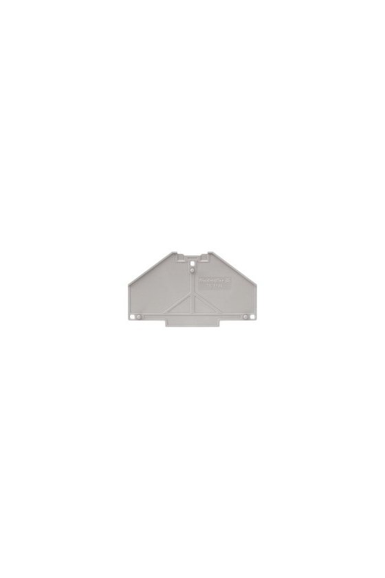 1173700000 Serie P, Placa separadora, gris, 2 mm, sin rotular, TW PRV4