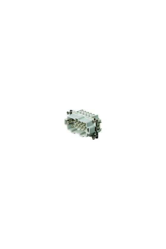 1203900000 Conector, Macho, 500 V, 16 A, Número de polos: 10, Conexión brida-tornillo, Grupo: 4, HDC HE 10 MS