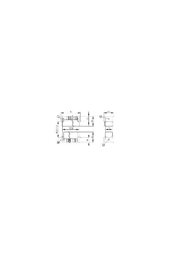 1207700000 HDC - Conector, Hembra, 500 V, 16 A, Número de polos: 16, Conexión brida-tornillo, Grupo: 6, HDC HE 16 FS