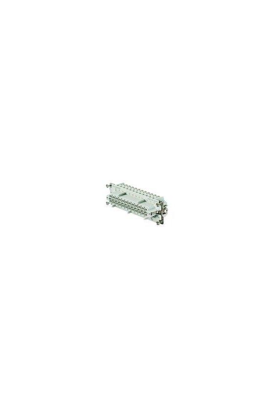 1211300000 Conector, Hembra, 500 V, 16 A, Número de polos: 24, Conexión brida-tornillo, Grupo: 6, HDC HE 24 FS