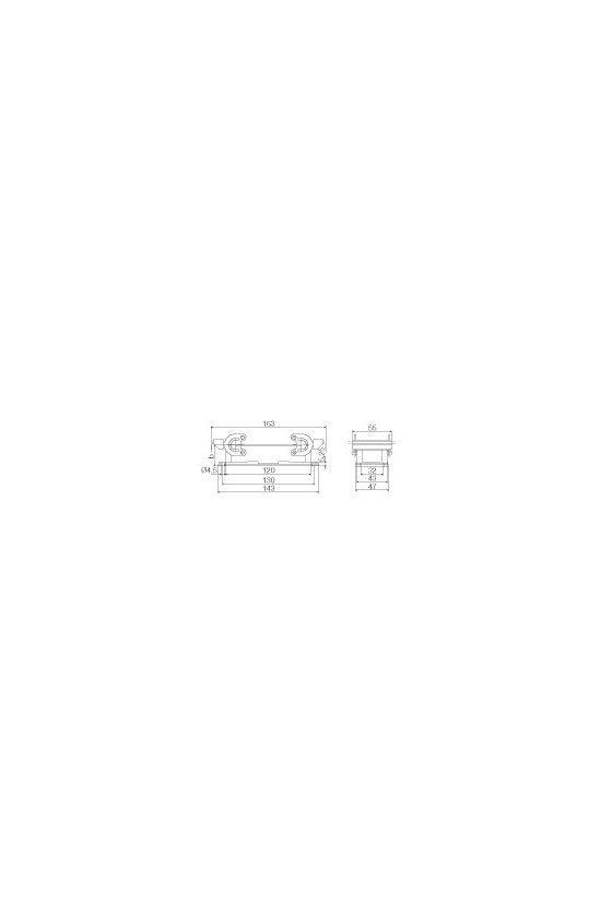 1212400000 Base abierta, Enclavamiento lateral en la parte inferior, Estándar, HDC 24B ABU
