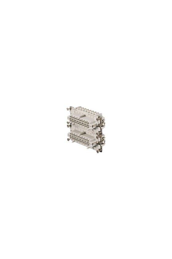 1216100000  Conector, Hembra, 500 V, 16 A, Número de polos: 16, Conexión brida-tornillo, Grupo: 6, HDC HE 16 FS 17-32