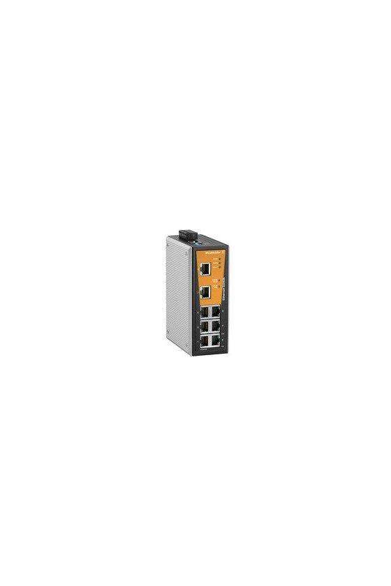 1240940000 Switch de red, managed, Fast Ethernet, Número de puertos: 8x RJ45, IP30, -40 °C...75 °C, IE-SW-VL08MT-8TX