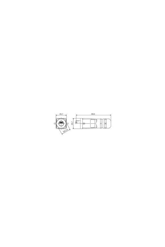 1271250000 Conector RJ45 sin herramienta, Cat.6A / Class EA (ISO/IEC 11801 2010), IE-PS-V05M-RJ45-FH-B