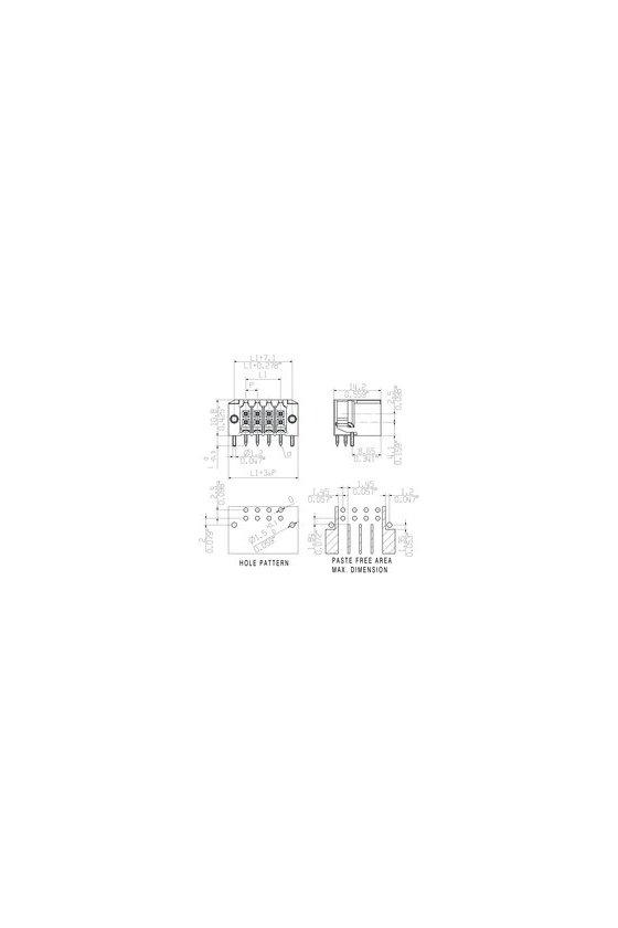1289470000 Conector para placa, Conector macho, Brida para soldar, NEGRO, S2C-SMT 3.50/08/90LF3.2SN BKBX