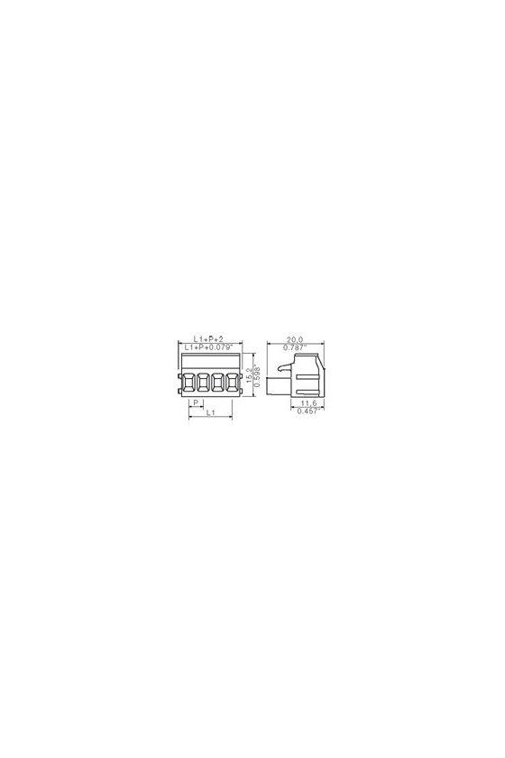 1356260000 Conector para placa c.i., enchufe hembra, Sección de embornado, máx. : 3.32 mm², Caja, BLA 4B SN OR