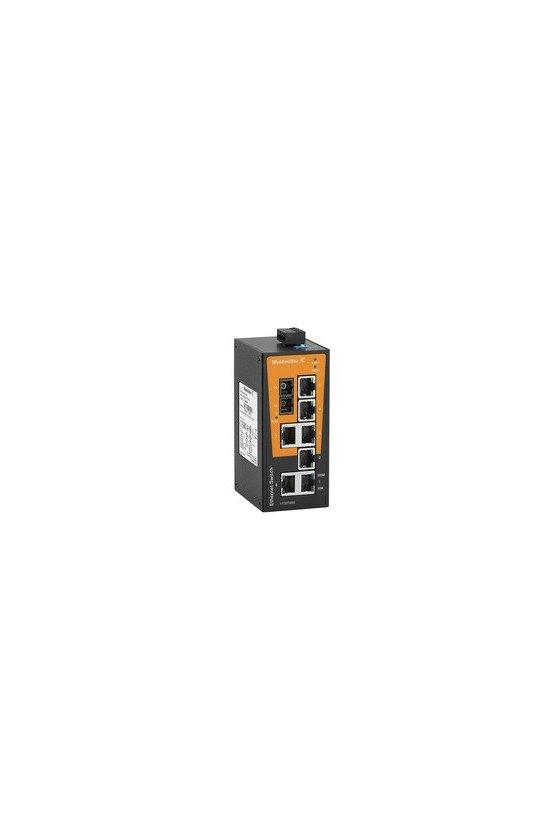 1412070000 Switch de red, unmanaged, Fast Ethernet, Número de puertos: 7x RJ45, 1 * SC Multimodo, IP30, IE-SW-BL08-7TX-1SC