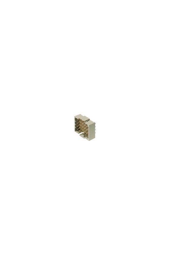 1442500000 Conector para placa c.i., Conector macho, cerrado lateralmente, estañado, gris guijarro, Caja, RSV1,6 LS9 GR 3,2 SN