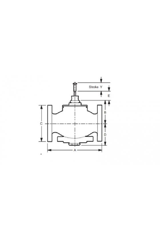 VGF31EM60 válvula de globo de brida de mezcla de 3 vías