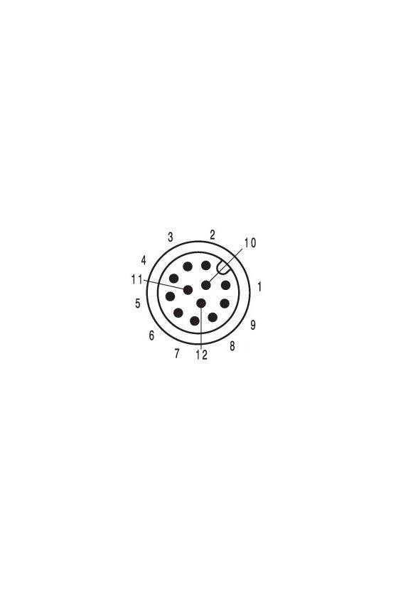 1467740000 Conector de instalación, M12, PG 9, Número de polos: 12, SAIE-M12S-12S-LP-HW-PG9