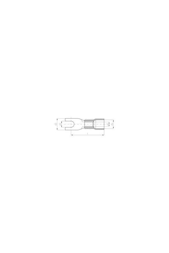 1491350000 Terminale planos, Conector de cables aislado,16 mm²,16 mm², KQIG-M6/-16