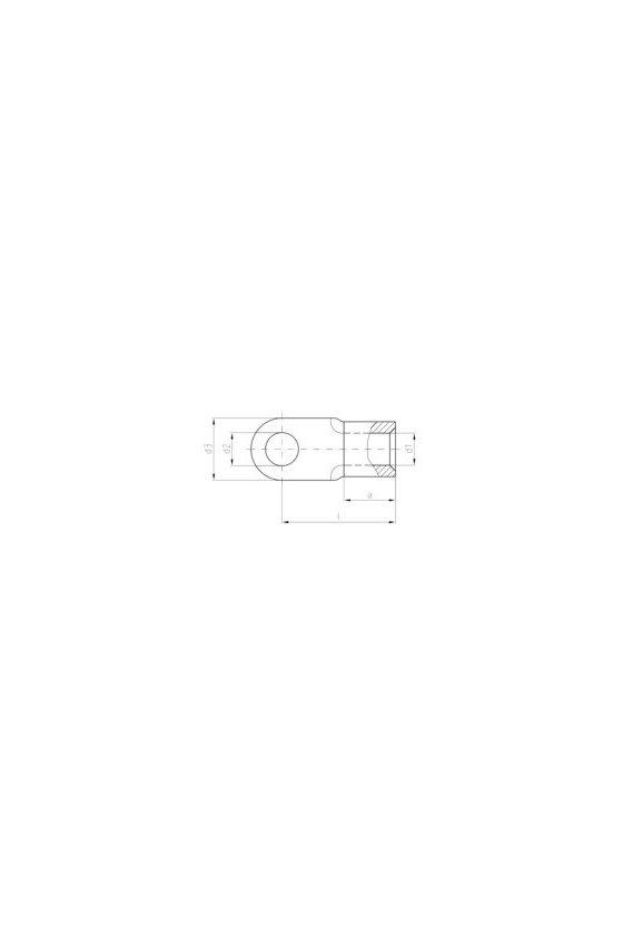 1494040000 Terminale planos, 10 mm², TERM OJALPLANO S/AISLA (100PZ), KQN-M8/-10