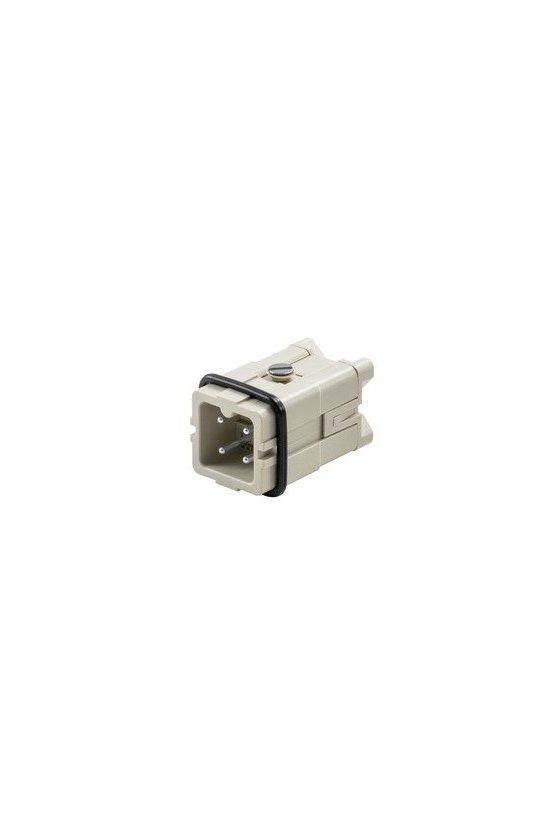 1498100000 Conector, Macho, 400 V, 16 A, Número de polos: 3, Conexión brida-tornillo, HDC HA 3 MS