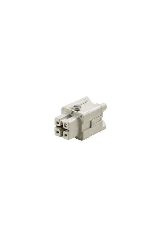 1498200000 Conector, Macho, 400 V, 16 A, Número de polos: 3, Conexión brida-tornillo, HDC HA 3 FS