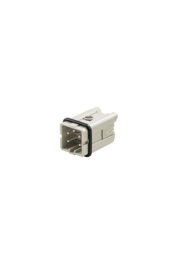 1498300000 Conector, Macho, 400 V, 16 A, Número de polos: 4, Conexión brida-tornillo, HDC HA 4 MS