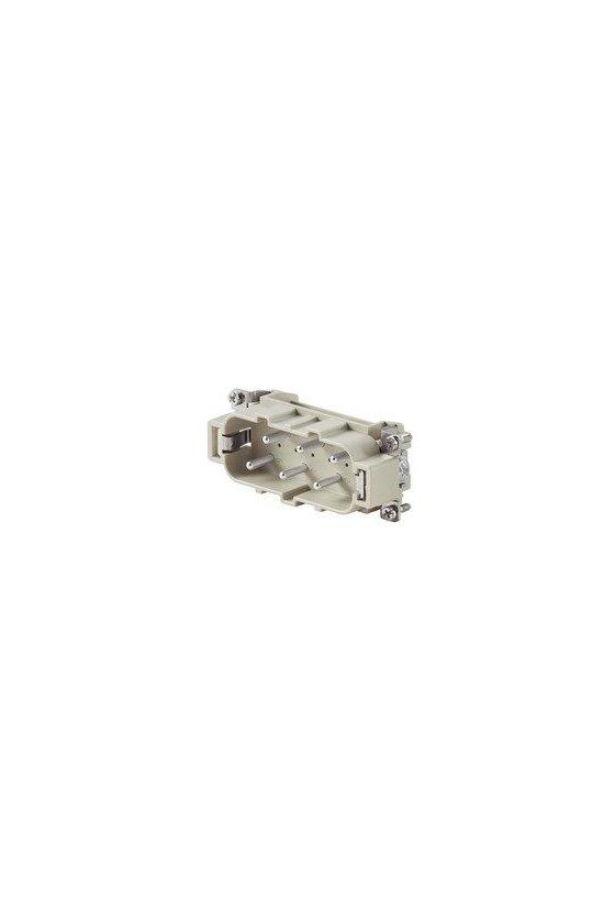 1498700000 Conector, Macho, 400 V, 35 A, Número de polos: 6, Conexión brida-tornillo, HDC HSB 6 MS