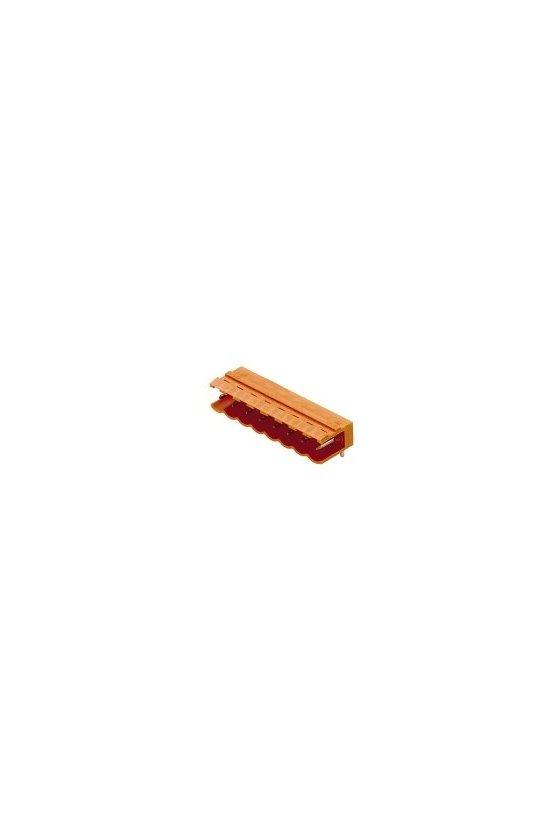 1508160000 Conector para placa c.i., Conector macho, abierto lateralmente, estañado, naranja, Caja,  SL 5.08/03/90 3.2SN OR BX