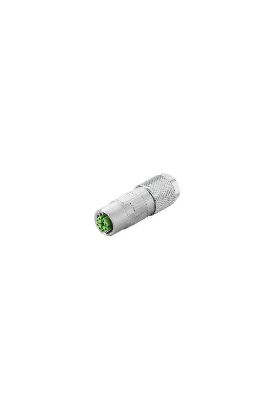 1516330000 Conectore hembra de configuración libre, M12, Conexión por desplazamiento del aislante, IE-PS-M12X-S-FH