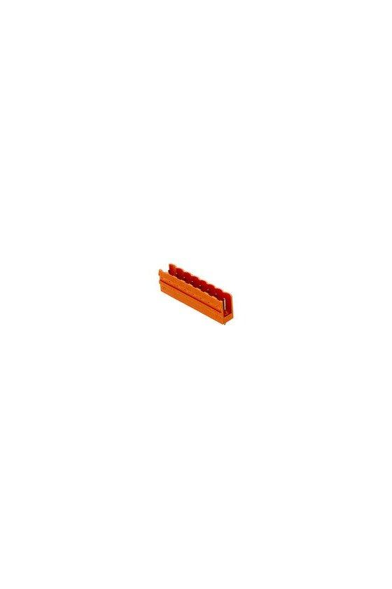 1517360000 Conector para placa c.i., Conector macho, abierto lateralmente,  estañado, naranja, Caja, SL 5.08/03/180 3.2 SN OR BX