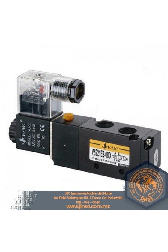 V5211-06E1 VALVULA DIRECCIONAL 1/8 5 VIAS 2 POSICIONES CONTROL SIMPLE 110VAC