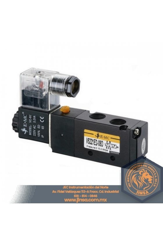 V5232-E1-10 VALVULA DIRECCIONAL 3/8 5 VIAS 2 POSICIONES CONTROL DOBLE 110VAC