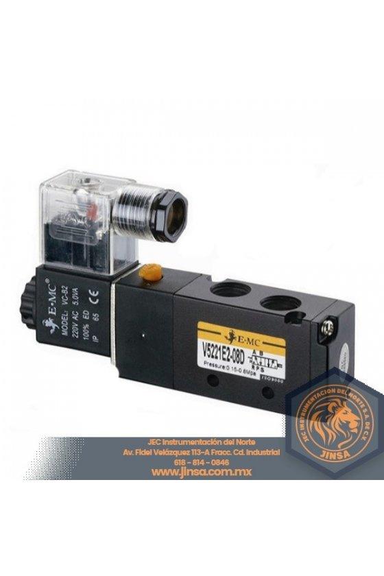 V5232-E2-10 VALVULA DIRECCIONAL 3/8 5 VIAS 2 POSICIONES CONTROL DOBLE 110VAC